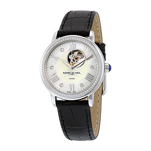 Raymond Weil Women's 2627-SLS-00965 Maestro Analog Display Swiss Automatic Black Watch
