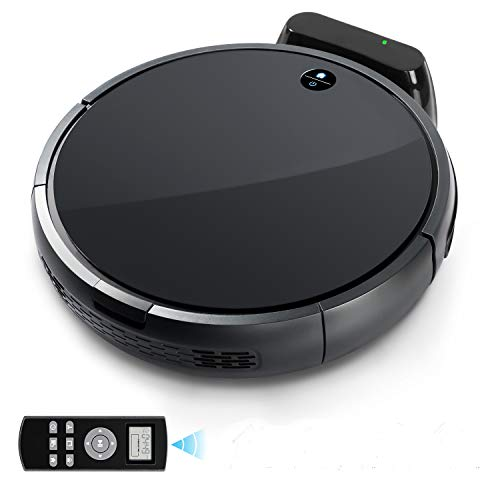 RV-03 Robot Vacuum with Strong Power Suction Tonor, Self-Charging Robotic Vacuum Cleaner Hepa Filter for Clean Carpet Hardwood Floor Pet Fur and Allergens by sunavo