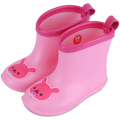 Chadstone Kids Cute Cartoon Rain Boots Toddler Boys Girls Waterproof Anti-skidding Rain Shoes - Pink - Kids Chadstone