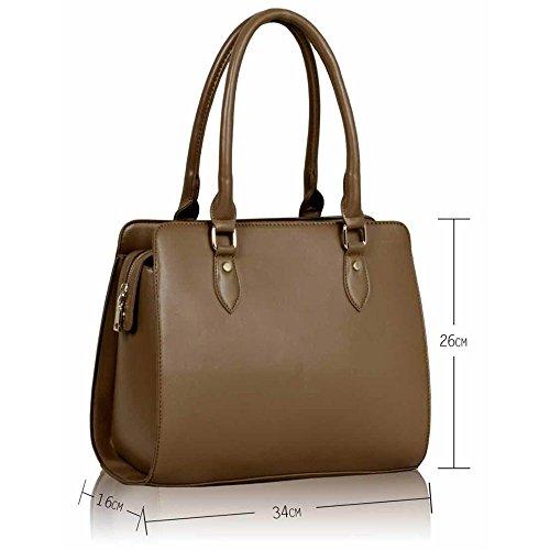 LEESUN LONDON - Bolsa mujer, color marrón, talla L C - Nude