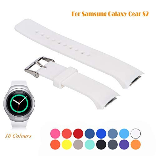 Cyeeson Samsung Gear S2 SM-R720/R730 Smart Watch Replacement Band, Accessory Soft Silicone Gel Wristband Strap Smartwatch Band for Samsung Galaxy Gear S2 SM-720/SM-730 Sport Smartwatch from Cyeeson