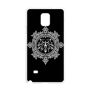 Samsung Galaxy Note 4 Cell Phone Case White The White Wolf W8N1J
