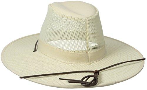 Henschel Crushable Soft Mesh Aussie Breezer Hat, Natural, Medium