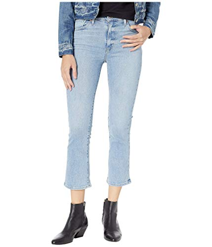 Levi's Women's Mile High Crop Flare Jeans, Late to The Game, Blue, 27 (Womens Levi Crop Jeans)