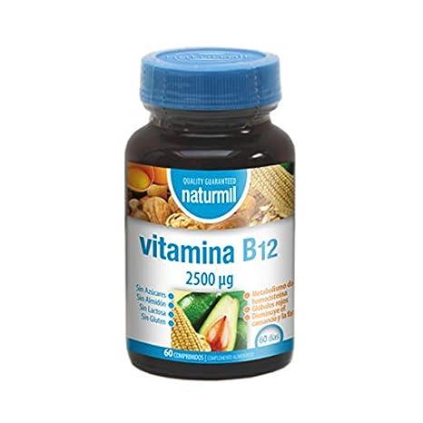 Vitamina B12 - 2500 µg - 60 comp - Naturmil: Amazon.es: Salud y cuidado personal