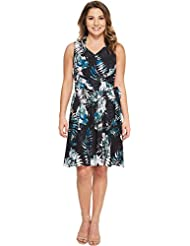 Tahari by ASL Womens Petite Palm Print Georgette Dress