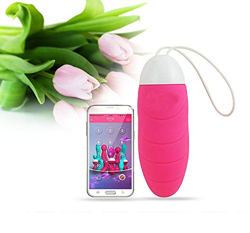 Vinmax Female Vibration Egg Bluetooth App Control 10Mode Vibrating Massager Ball Vibrator Pink