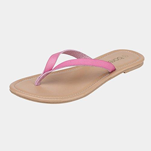 Slipper Zapatillas planas de verano femenino Zapatillas casuales antideslizantes de playa de moda (Color : 3, Tamaño : EU39/UK6/CN39) 1