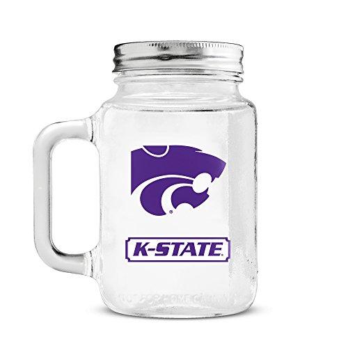 Duck House NCAA Kansas State Wild Cats 20oz Glass Mason (Ncaa Kansas State Wildcats Glass)