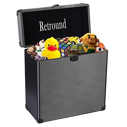Retround Carrying Case, Kids Toy Chest, Storage Box for Nursery, Playroom, Home Organization, Mini Travel Locking Personal Cosmetic Case