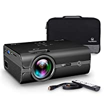 VANKYO Portable Projector with 2500 Lux Efficiency, Support HD 1080P, Mini Projector with USB/SD/AV/HDMI/VGA Input. Come with Free Carrying Bag and HDMI Cable
