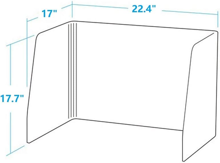 AOFEI Portable Felt Protection Shield Table Divider Acoustic Panel Dam-Board Barrier for Office Table Class Student Children 01