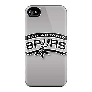 Shock Absorption Hard Cell-phone Cases For Apple Iphone 4/4s (BPL25996ZJBz) Custom Trendy San Antonio Spurs Skin