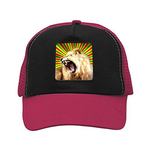 CAHAFun Unisex Adults Lion Snap Back Trucker Hat Mesh Cap ()