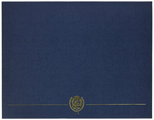 5 Covers Closeout - Great Papers! Navy Classic Crest Certificate Cover, 12