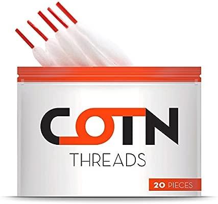 Algodón Vape Orgánico COTN THREADS para resistencias de 3 mm – 20 piezas de algodón ecológico para cigarrillos electrónicos ¡Lo último en accesorios ...