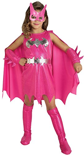 Rubie's Pink Batgirl Child's Costume, Medium (Nobbies Halloween Costumes)