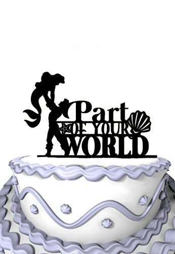 - Meijiafei Wedding Cake Topper - Bride and Groom Silhouette with Part Of Your World