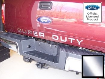 Ford SUPER DUTY Letter Inserts (thin decals) for Tailgate Chrome - CCHR (2008-2016) F250 F350 F450 Decals Stickers (Tail Decal)