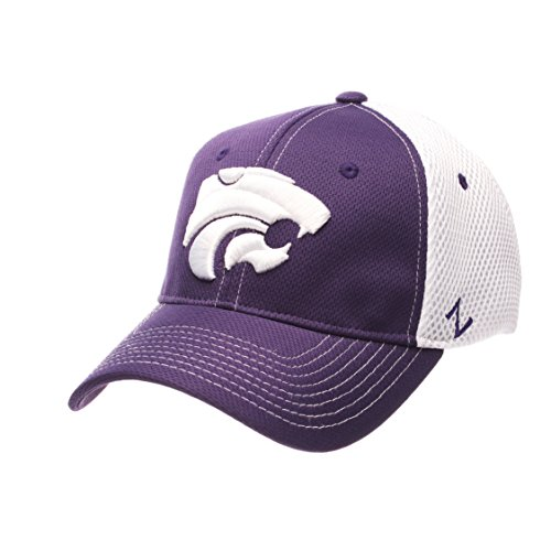 NCAA Kansas State Wildcats Men's Rally Z-Fit Cap, X-Large, Purple/White (Cap Wildcats State)