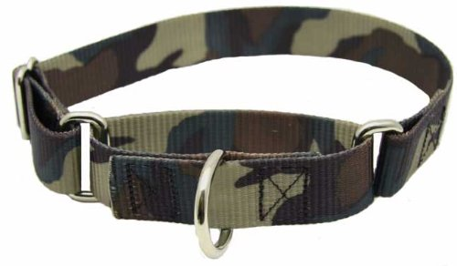 Large Martingale Woodland Camo Patterned Dog Collar, My Pet Supplies