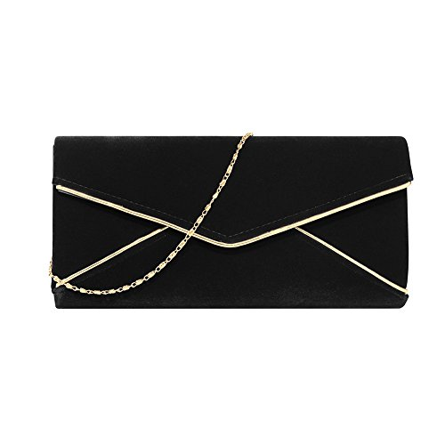With For Clutch Bag Velvet Women Evening Black Party Stjubileens Ladies' Strap Formal Chain xOwz0qOZF