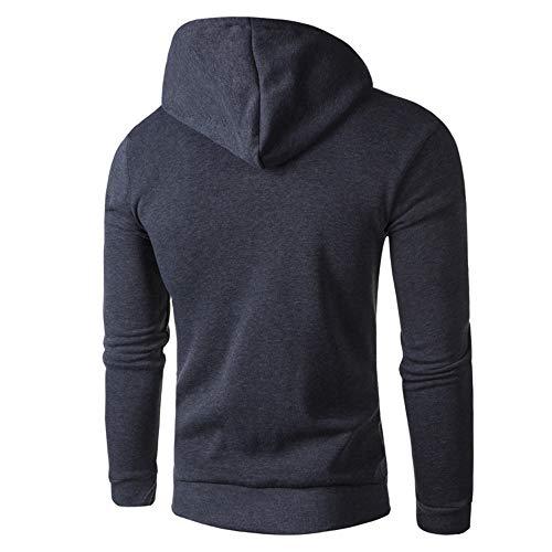 Mens Cappuccio Shirt Bhydry Felpa Grigio Nazionale Stile Con Stampa Inverno Scuro Di Autunno Camicetta Superiore vvrqw
