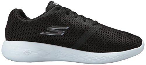 Skechers Performance Herren Go Run 600-Refine Sneaker Schwarz-Weiss