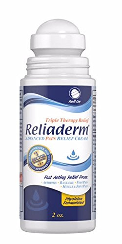 Reliaderm Advanced Pain Relief Roll-On Cream. Topical Analgesic for Joint, Knee, and Foot Pain