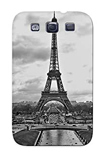 Hard Plastic Galaxy S3 Case Back Cover, Hot Black And White Case For Christmas's Perfect Gift