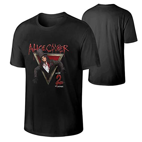 Alice Cooper Men's Casual Short Sleeve Cotton T Shirt Black 4XL for $<!--$14.98-->