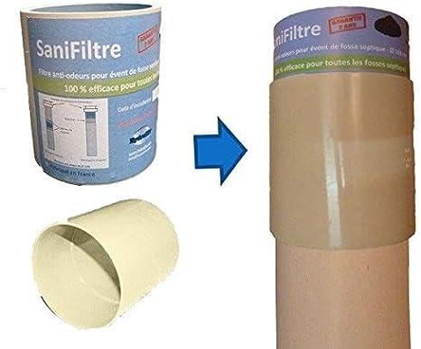 filtre anti-odeurs fosse septique diam/ètre 100 SANIFILTRE S150 HYDRODIV gris manchon pour montage en chapeau