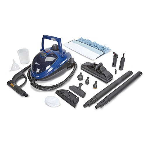 HomeRight SteamMachine C900053.M Blue Multi-Purpose Steam Cleaner for Cleaning Kitchens, Bathrooms, Windows, Floors Steam Mop and Wallpaper Removal
