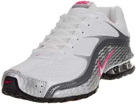 Nike Women's Reax Run 5, Running, White/Grey, M (8, White/Metallic Silver/Dark Grey)