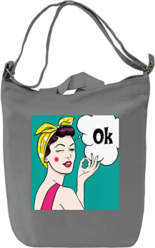 Retro Borsa Giornaliera Canvas Canvas Day Bag| 100% Premium Cotton Canvas| DTG Printing|