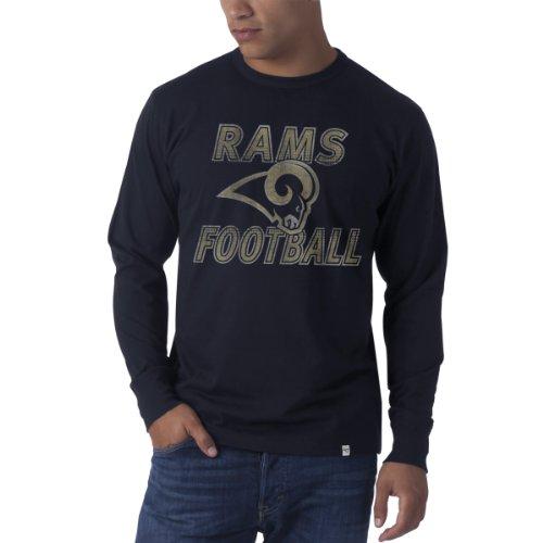 (NFL St. Louis Rams Men's Flanker Long Sleeve Tee, Small, Fall Navy )