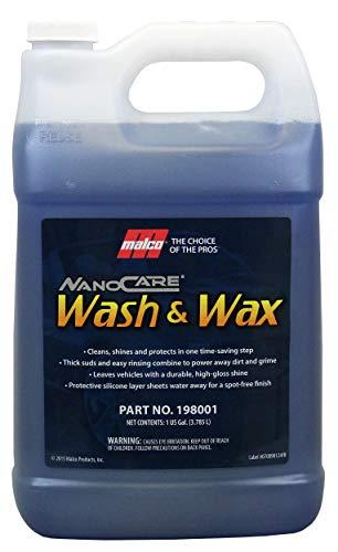 Malco Nano Care Wash & Wax Ultra Concentrated Car Wash, 1 Gallon (198001)