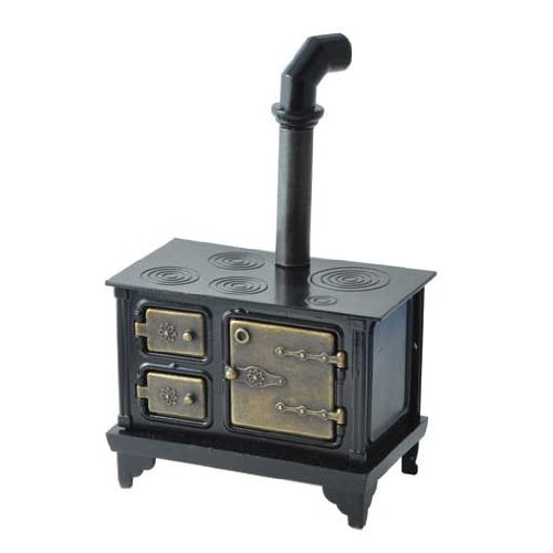 Miniature Cast Iron Stove (Dollhouse Miniature Antique Cast Iron Stove)