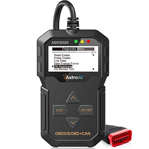 (AstroAI OBD2 OS320 OBD II Auto Check Engine Code Reader Small Car Diagnostic Tool Automotive Vehicle Scanner, Black)