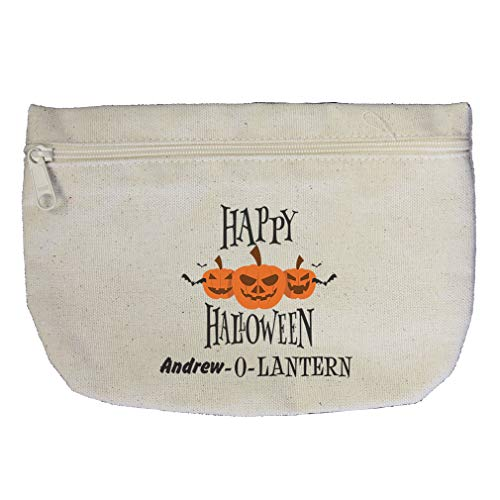 Personalized Custom Text Happy Halloween Cotton Canvas Makeup -
