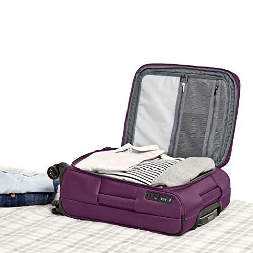 AmazonBasics Premium Expandable Softside Spinner Luggage With TSA Lock- 25 Inch, Purple by AmazonBasics (Image #2)