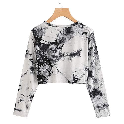 Twist Femme de Noir Sweat Mousseline Tops Chemise Shirt Chemisier Torsades Pull Soie Longues en Manches Chic H6U6Tqnw
