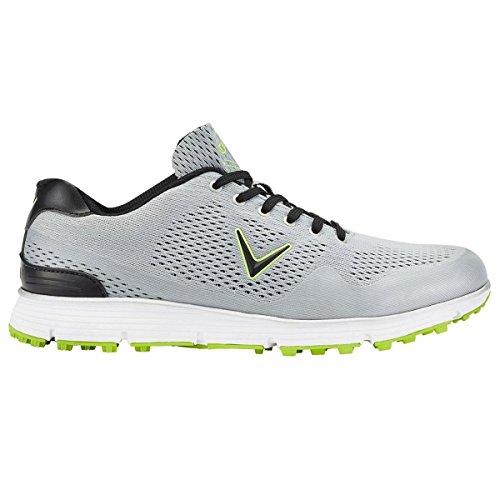 Callaway Chev Golf Vent Shoes, Men, Grey (Grey/Lime), 45EU