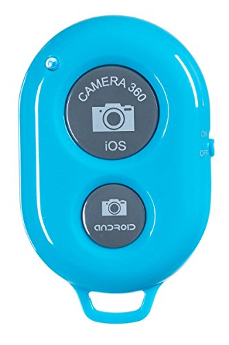 Abco Tech Bluetooth Wireless Remote Control Camera Shutter for IOS, Android Smartphones - Blue
