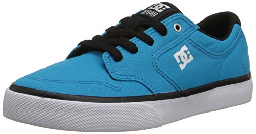 DC Nyjah Vulc TX Skate Shoe (Little Kid/Big Kid),Turquoise/Black,5 M US Big Kid