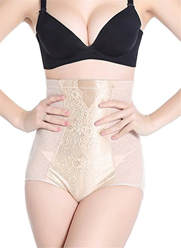 dqq Mujer Alta Cintura Tummy Bragas para Mujer color carne