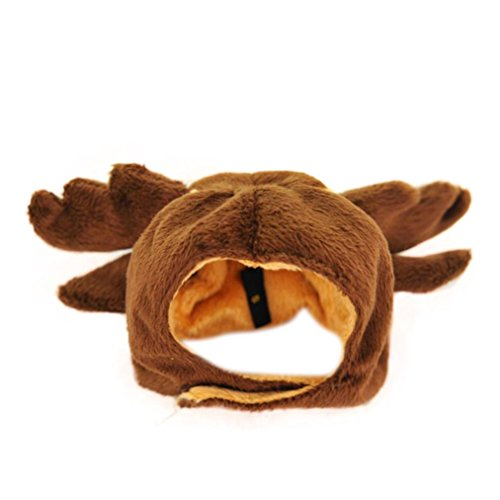 [FAPIZI ☀ Pet Others ☀ Christmas Pet Dog Costume Lovely Hat Puppy Teddy Winter Warm Cap (S,] (Peter Pan Dog Halloween Costumes)