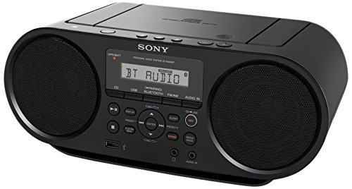 Sony Portable Bluetooth Digital Tuner AM/FM Radio Cd Player Mega Bass Reflex Stereo Sound System Plus FSM 6ft Aux Cable to Connect Any Ipod, Iphone or Mp3 Digital Audio Player (Boombox Cd Ipod)