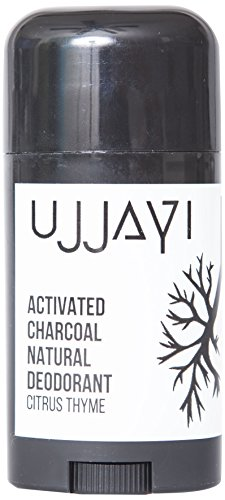 Ujjayi Boutique Activated Charcoal Natural Deodorant, Citrus Thyme