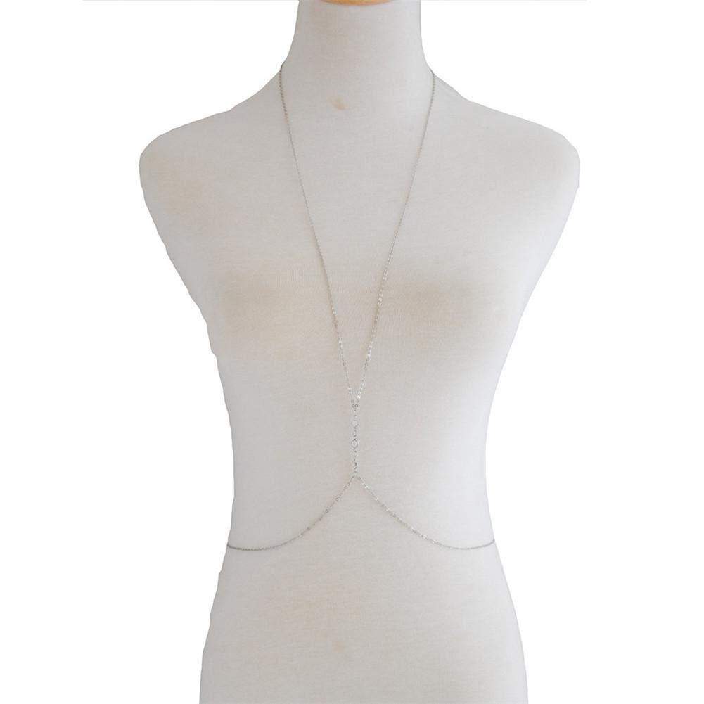 Cadena Collar Conjunto de Cadena de Cuerpo de Metal Bikini ...